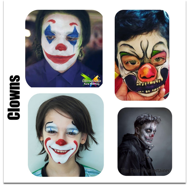 clown face paint ideas scary clown makeup