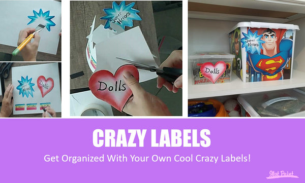 DIY toy box labels with face paint covid-19 corona virus stay home stay safe crafts