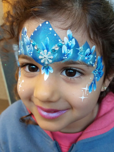 Debbie Mann Flower Ice Princess Face Painting