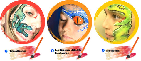 Dinosaur Face Paint Ideas