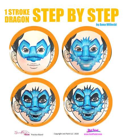 Dragon Face Painting Step by Step Tutorial