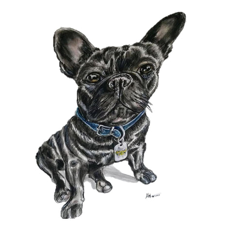 french bull dog painting