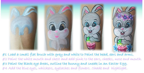 Easter Bunny Tutuorial by Anna Wilinski face painting