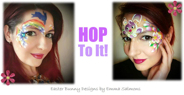 Emma Salmons Bunny face painting