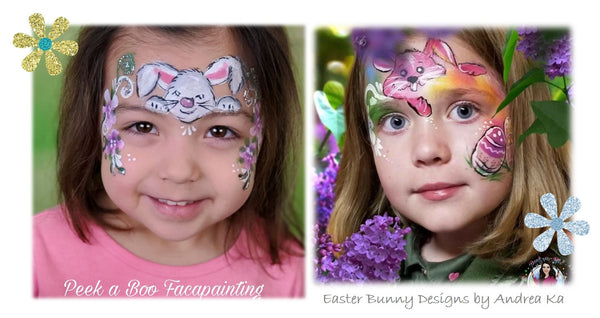 Andrea K face painting easter bunnies