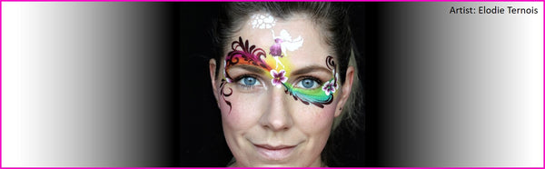 Adding small details with face painting stencils