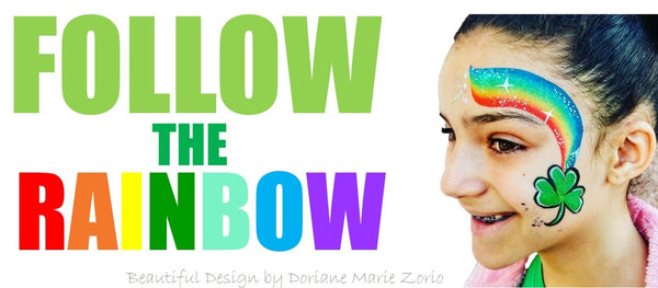 Becki Butler follow the rainbow st patricks day design