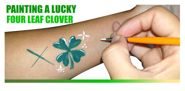 Four Leaf Clover Face Painting