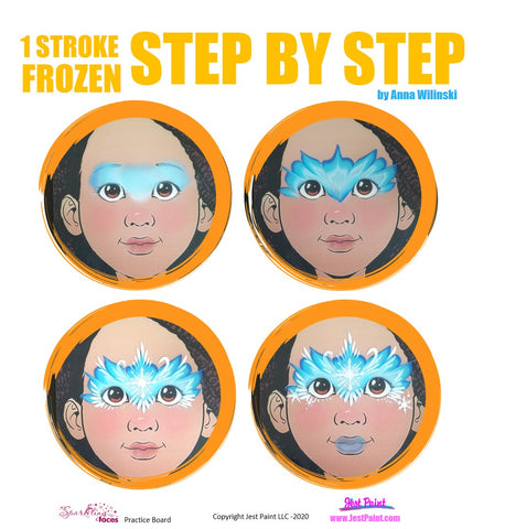 Frozen Face Painting Step by Step Tutorial