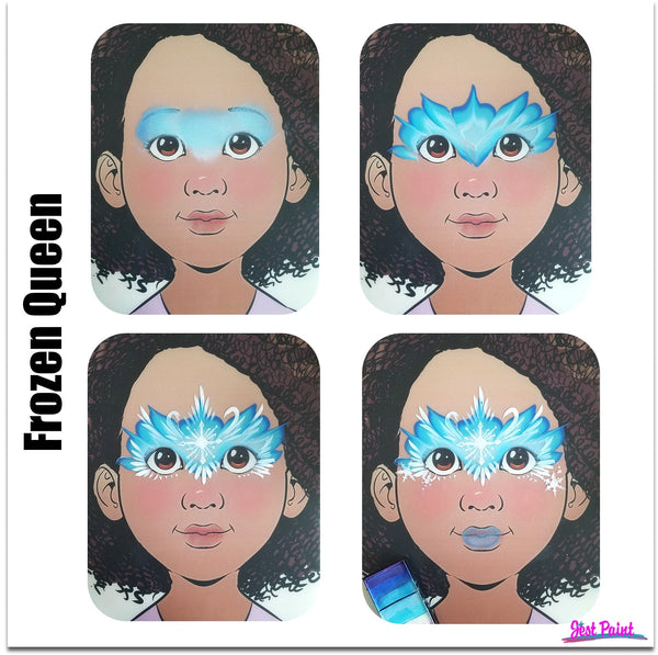 Frozen queen princess Face Paint Jest Paint Step by Step Tutorial face paint