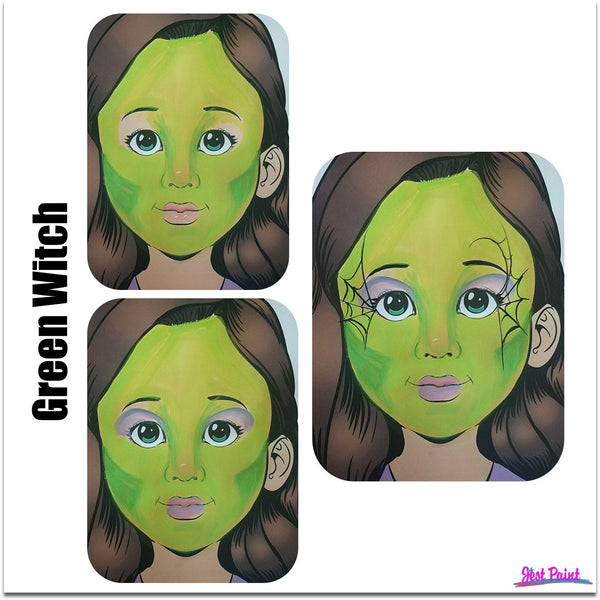 face paint step by step tutorial face paint witch