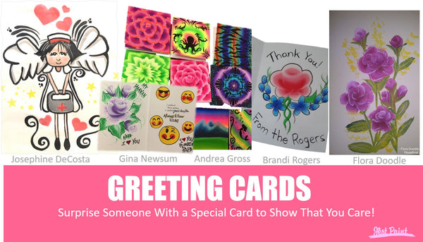 Greeting cards DIY with face paint