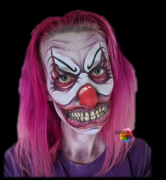 Heather Saxon Porter IT Pennywise face painting