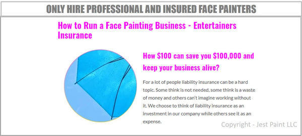 hire insured face painters