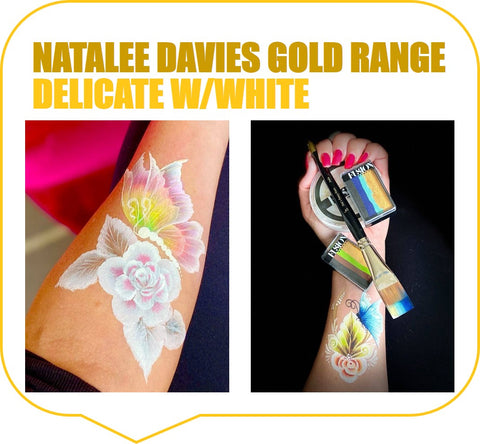 Natalee Davies Gold Range Palette with White Layer on top