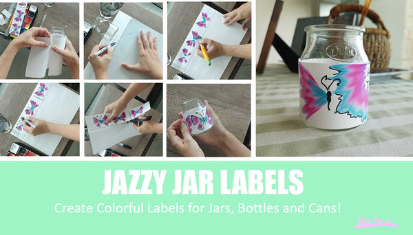 DIY jar labels with face paint covid-19 corona virus stay home stay safe crafts
