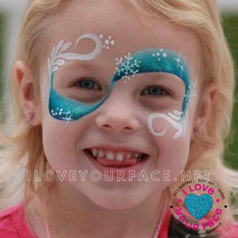 Frozen ice princess face painting