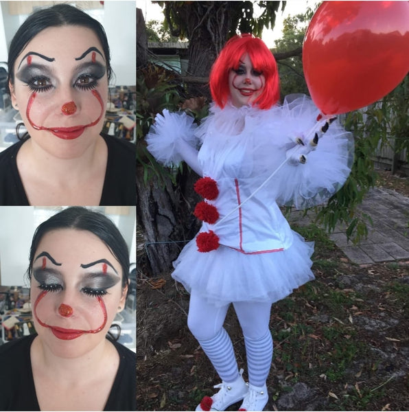 Katie Leonard pennywise face painting designs makeup