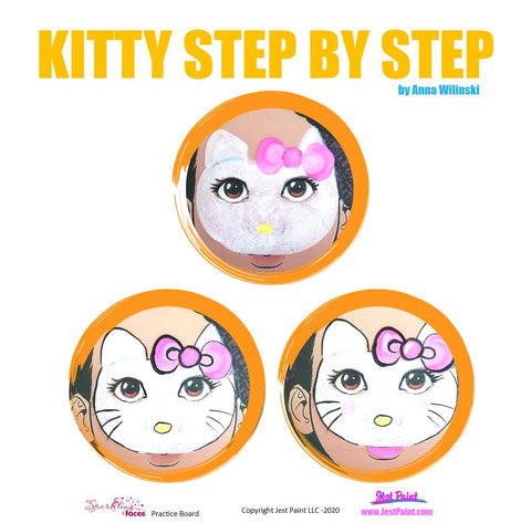 Kitty Face Painting Step by Step Tutorial