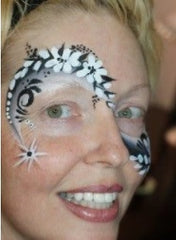 laura oliver flower face paint tag magpie