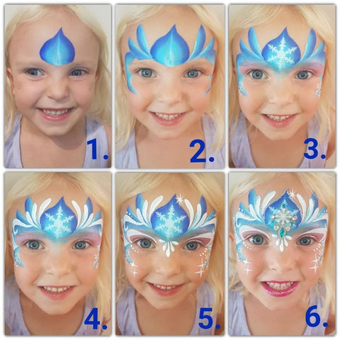 Frozen Face Paint Step by Step