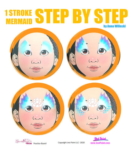 Mermaid Face Painting Step by Step Tutorial
