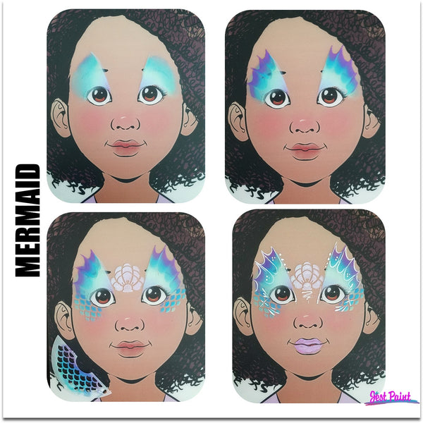 Mermaid Face Paint Jest Paint Step by Step Tutorial face paint