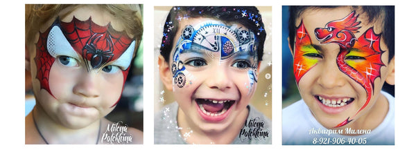 Milena Potekhina face painting boy designs
