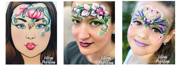 Milena Potekhina face artists flower face painting