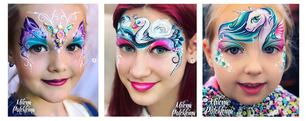 Milena Potekhina face painting girl designs