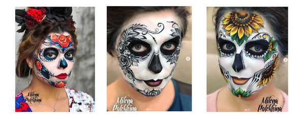 sugar skulls by milena potekhina face painting