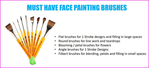 face painting brushes what ones to buy Bolt Brush