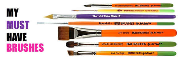 my must have face painting brushes
