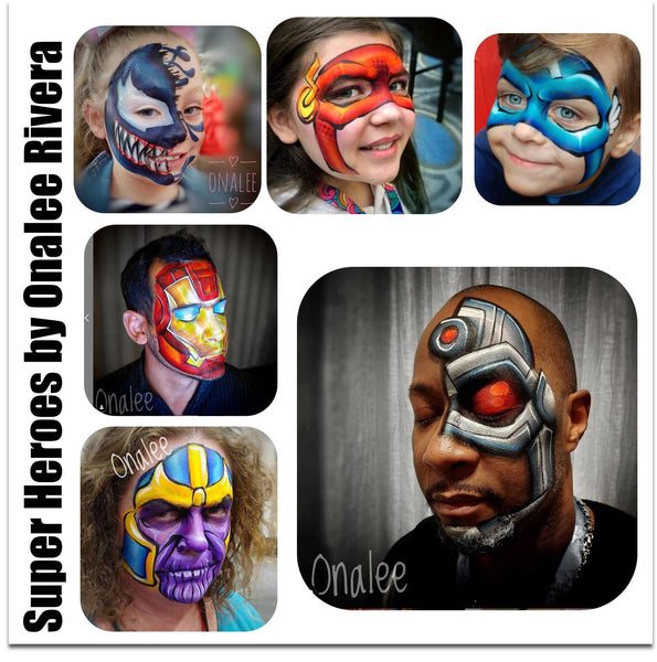 Onalee River super heroes face paint hero power palette