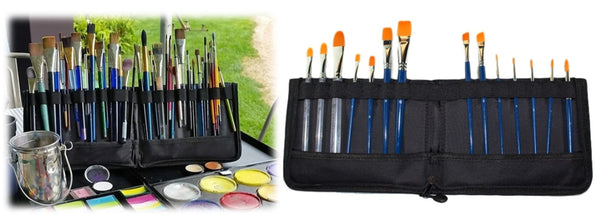 face paint brush wallet TAG body art storage case