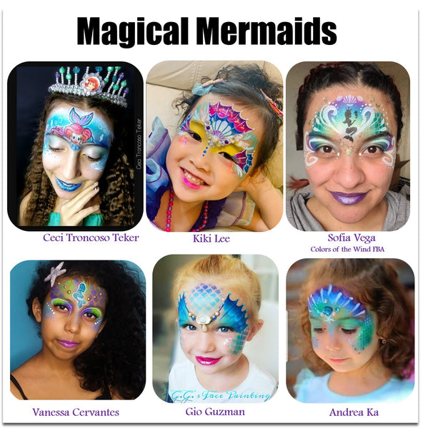 Mermaid face painting ideas makeup halloween