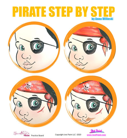 Pirate Face Painting Step by Step Tutorial