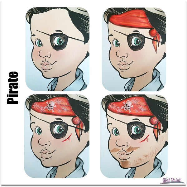 face paint step by step tutorial face paint  pirate