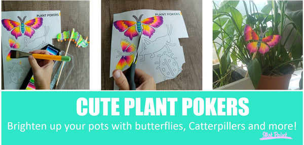 Butterfly plant pokers