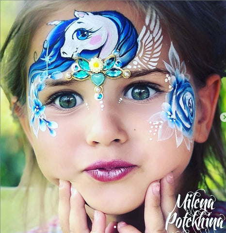 Pony face painting design melina potekhina