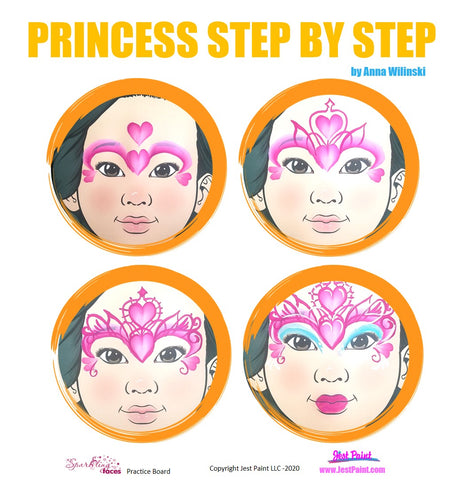 Princess Face Painting Step by Step Tutorial