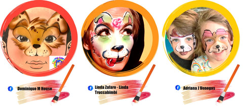 Puppy Face Paint Ideas