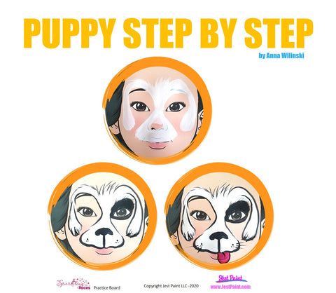 Puppy Face Painting Step by Step Tutorial