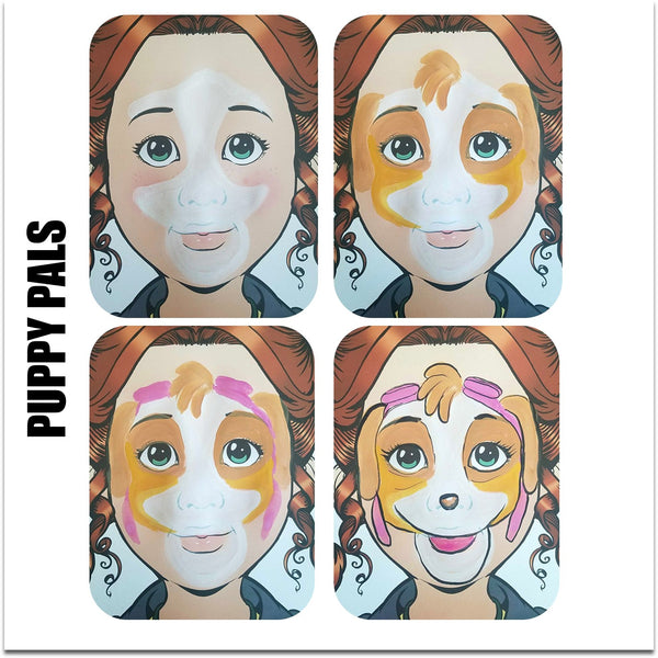 face paint step by step tutorial face paint  paw patrol puppy