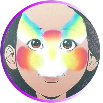 Step by Step Tutorial - Face Painting Rainbow Cat - Step 2
