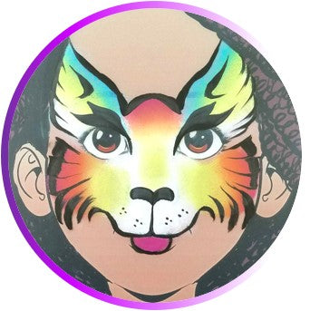 Step by Step Tutorial - Face Painting Rainbow Cat - Step 4