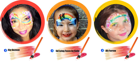 Rainbow Face Paint Ideas