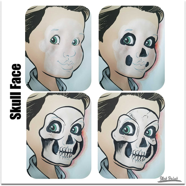skull face paint step by step jest paint
