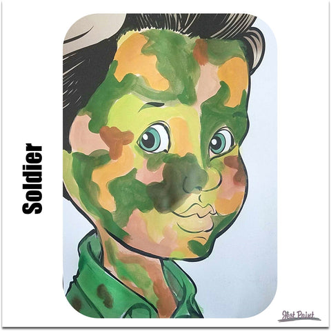 face paint step by step tutorial face paint soldier