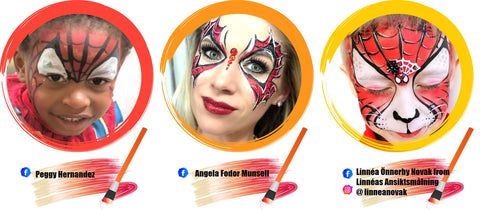 Spiderman Face Paint Ideas